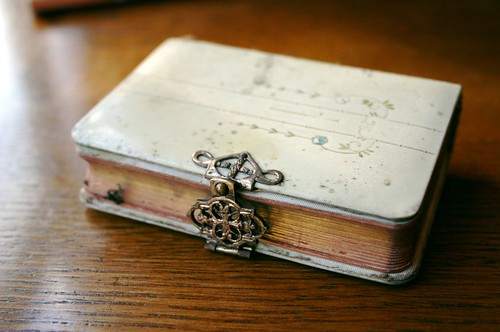 The metal clasp on the little book