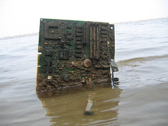 obsolete computer (MasterGeorge) Tags: beach broken water computer dead bay board motherboard circuit destroyed chesapeake brownies obsolete destroy