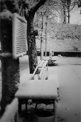 NEIGE (flo74.) Tags: blackandwhite snow square neige paysage parc cy challengeyou challengeyouwinner photophiles