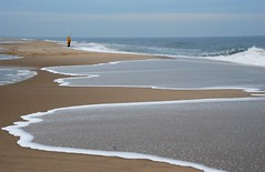diehard fisherman (Diana Pappas) Tags: ocean winter beach fisherman sand tide nj wave jerseyshore sandyhook