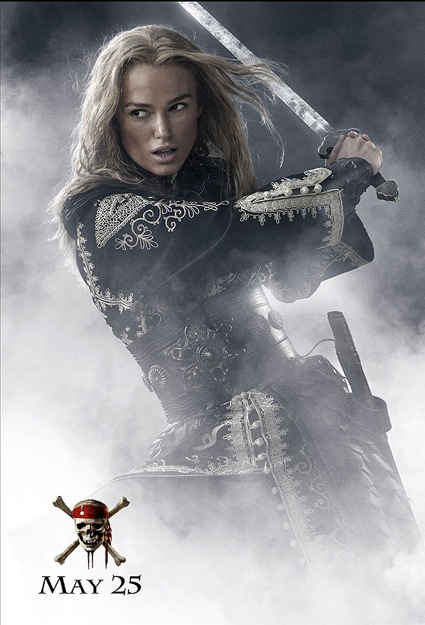 pirates of the carribean at worlds end Elizabeth Swann poster Keira Knightley