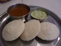 Idli with Sambar and Chutney - Chennai Banana Leaf, Syndal