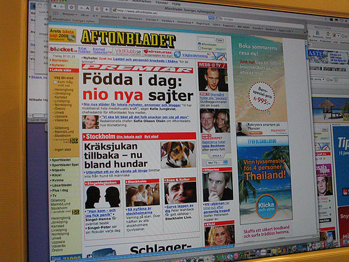 EFIT 08:26 - Aftonbladet launched nine local sites today