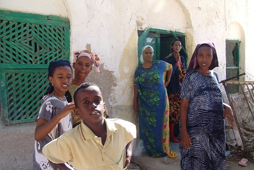 Berbera girls with younger brother