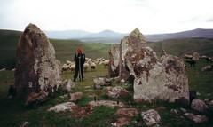 Karahunj, Sisian, Armenia (mm-j) Tags: 2001 may scan contax armenia stonehenge t2 carahunj
