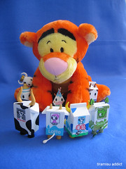 Tigger's new friends (tiramisu_addict) Tags: toys milk tiger disney plush winniethepooh tigger latte soya choco leche milkbottle strangeco tokidoki lowfatmilk moofia