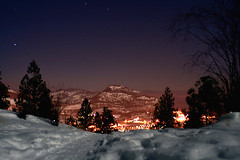 By the light of the moon (storm light) Tags: city snow night stars lights quiet path relaxing hike moonlit