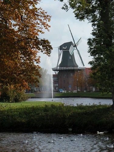 Meyer\'s wind mill. View from public park