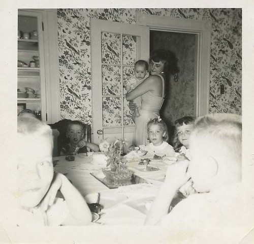 Paul  Leslie and Grandma 1950 Birthday party / Selkie