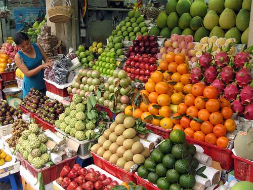 Fruit Market / Vietnam, Saigon by flydime.