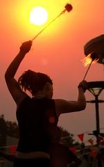 cymbal of fire (beeater) Tags: summer fire festivals elements canberra act firetwirling streettheatre fireart canberramulticulturalfestival femininefire