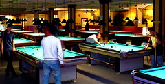 A sea of Pool Tables