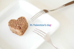 For you all*** (yoshiko314) Tags: love cake flickr heart chocolate fork share foryou chocolatecake heartshaped whiteground flickraddict flickrland 55mmf28aismicro impressedbeauty todayitooksomeothershotforstvalentinesday soareyougoingtoseethemtomorrow catchycolorsflickrish fl0509