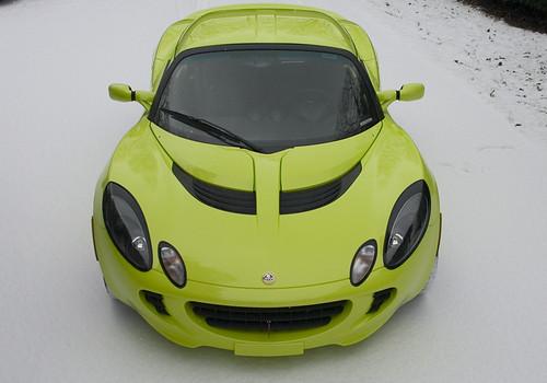 Snowy Lotus Elise 4,car, sport car