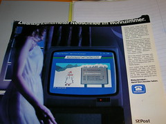 Bildschirmtext - damit Sie's leichter haben. (evilboy) Tags: deutschland post retro ddr brd bundespost btx bildschirmtext