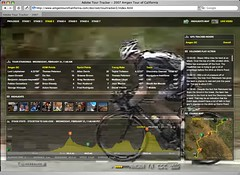 Tour of California bike race tracker web app
