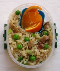 Speedy mixed rice lunch for toddler