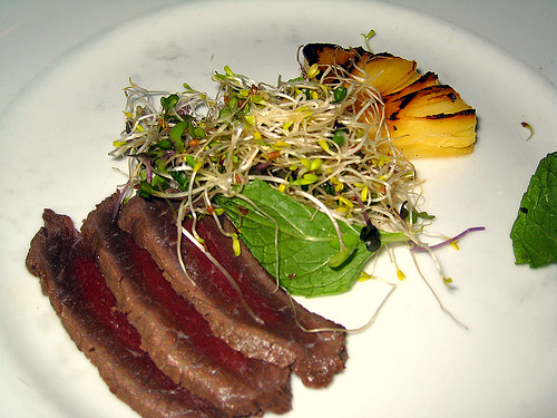 Salad of Rum Cured Beef