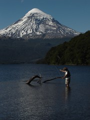 Mau Pescando con mosca (ellamiranda) Tags: cosos patagoniaargentina paimun lagohuechulafquen ellamiranda febrero2007 campinglacumbre