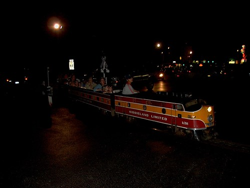 The Kiddieland Amusement Park train at night. Kiddieland Amusement Park. Melrose Park Illinois USA. September 2006. by Eddie from Chicago
