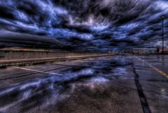 Miranda Car Park HDR (alexkess) Tags: reflection clouds nikon sydney australia nsw d200 miranda carpark hdr