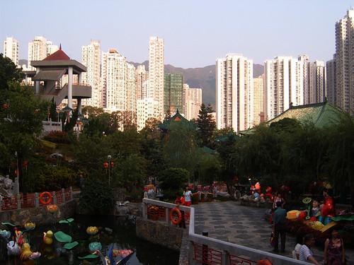 Park behind temple, HK