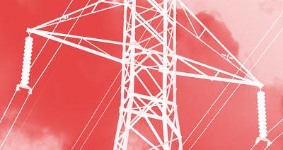 torreta de la red eléctrica