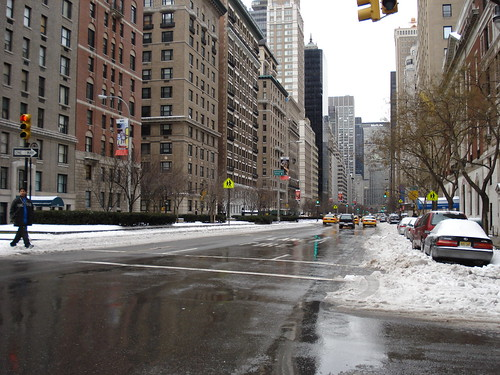 snow on park avenue