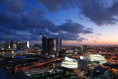 Downtown Miami at Sunset.