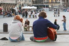 Guitar player in Piazza Santa Croce