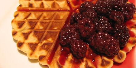 Crème fraîche wafel