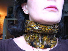 my first hand spun- neck hug
