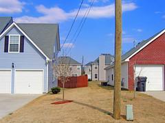 layers (BoringPostcards) Tags: atlanta house home georgia developer suburb sprawl neighbors neighbor conformity mcmansion subdivision suburbanality