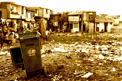 UNICEF's Failed Effort (Wen-Yan King) Tags: poverty unicef india sepia garbage asia poor bin infrastructure population mumbai slum sanitation