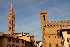 Florentine Towers (juliaclairejackson) Tags: city italy art architecture landscape florence cityscape view terracotta towers panoramic medieval historic tuscany firenze palazzo cultural citybreak abigfave nikond80