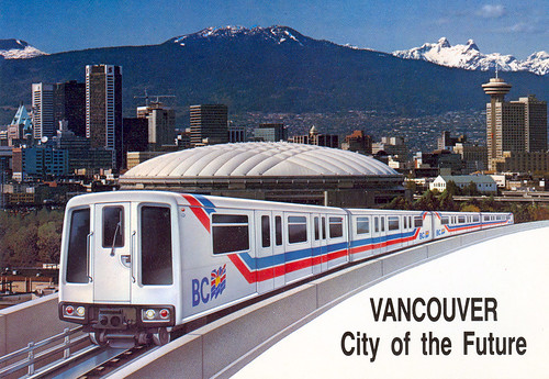 postcard of skytrain