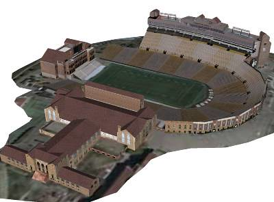Folsom Stadium, Balch Fieldhouse and Carlson Gymnasium at the University Colorado State, Boulder