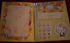 Hello Kitty Letter Set (Robozippy) Tags: cute paper fun hellokitty stickers adorable sanrio kawaii stationery letterset