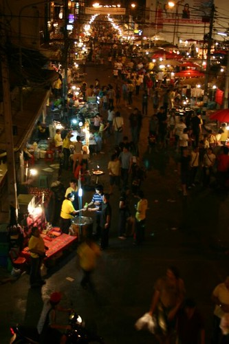 The Sunday night market in Chiang Mai