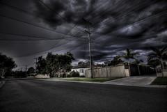 Suburbia HDR (alexkess) Tags: road street houses sky como home lines clouds geotagged nikon power sydney suburbia australia plazes nsw suburbs d200 hdr plazebfbf875c68fcfccd435dee2e05b905ba geo:long=15106362024086 geo:lat=34004141687769