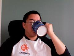 Slackershot: coffee in the mornings