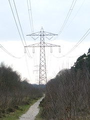 Danube pylon (LHOON) Tags: netherlands electric walking hiking walk electricity   gr12