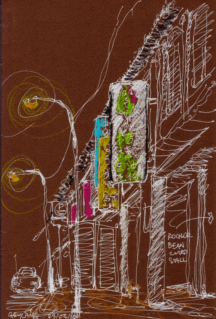 Evening Sketchwalk @ Geylang, Singapore