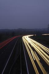 Driving home for Christmas (Matt Browne) Tags: longexposure 350d driving motorway kitlens devon lighttrails 1855mm m5 poltimore