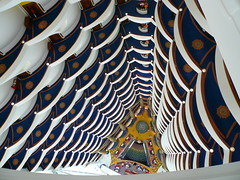 Atrium of the Burj al Arab, a top-down view - by Lars Plougmann