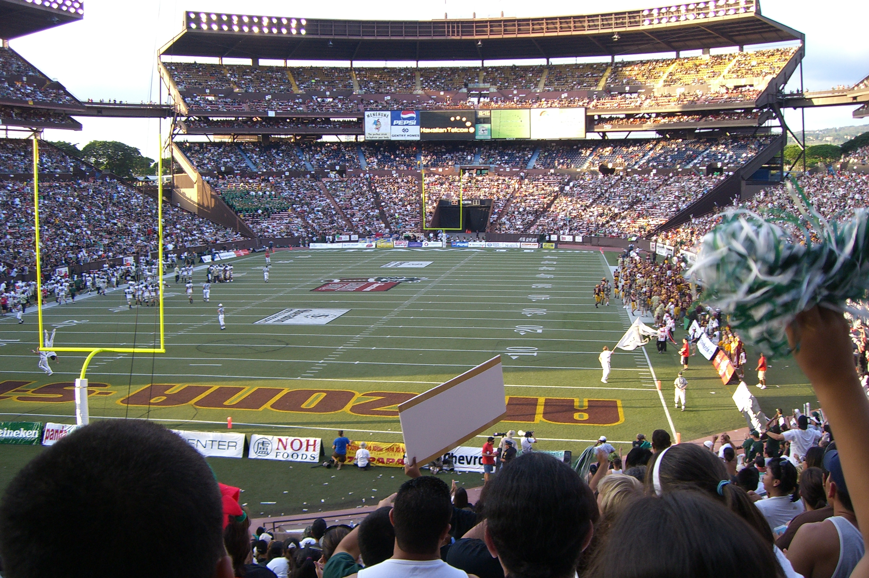 Hawaii Bowl Aloha Stadium HOME BAND SECTION