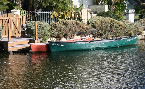 green boat (venice canals)