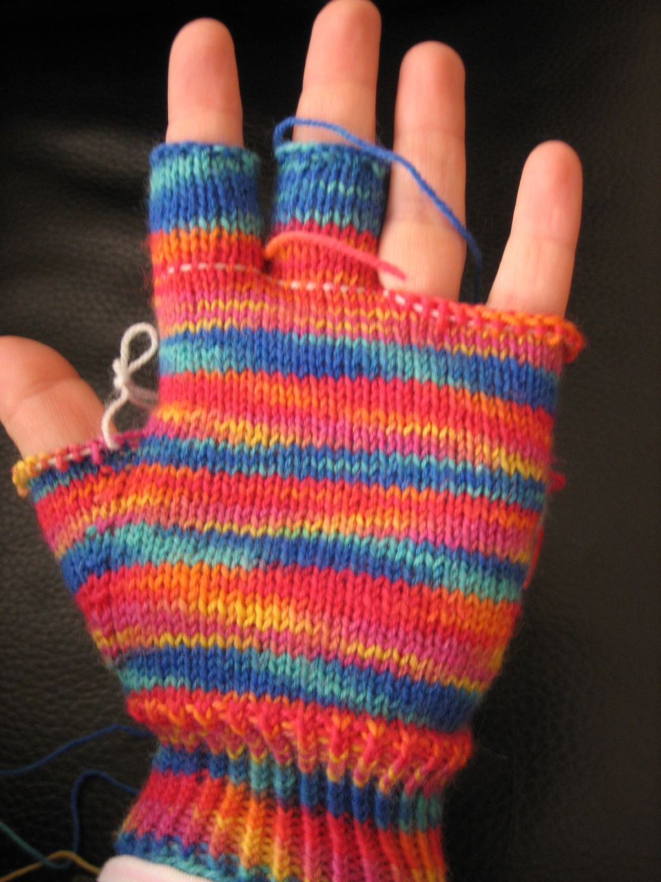 Hooray for me! fingerless gloves