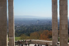a view of LA from the Getty
