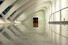 exit (IHP) Tags: abstract reflection art museum wisconsin architecture d50 nikon pattern floor empty arches aisle calatrava milwaukee nikonstunninggallery
